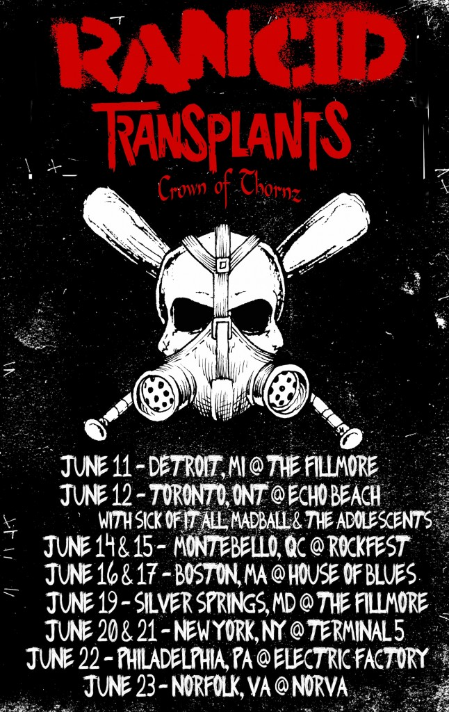Rancid X Transplants Tour
